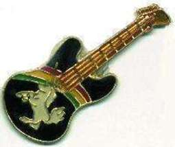 12 Pins - GUITAR w/ UNICORN , music hat lapel pin #1736 - $8.00