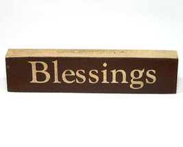 Blessings Inspirational Wooden Shelf Sitter - $3.99
