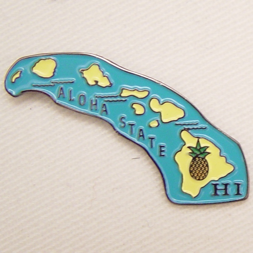 12 Pins - HAWAII , state hat tac lapel pin sp335