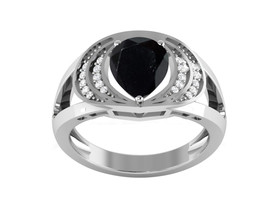 Women Designer Black Spinel CZ 925 Sterling Silver Ring Jewelry Sz 5 SHR... - $26.01