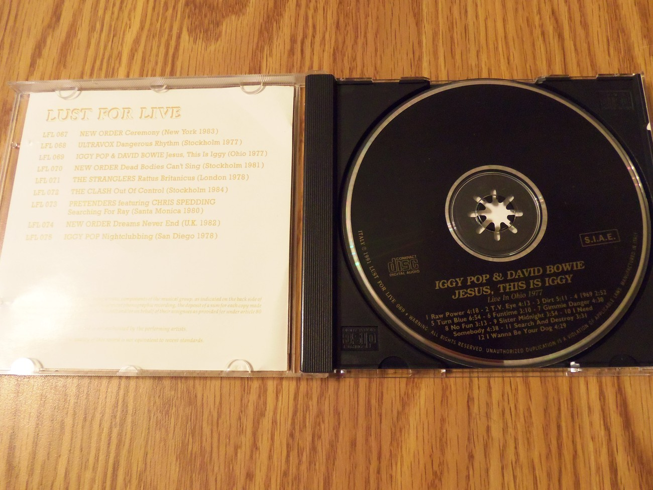 Iggy Pop David Bowie 1977 Live Jesus This Is Iggy Cd The Stooges