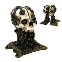Steampunk Skull Bookends Collectible Figurine - £26.53 GBP