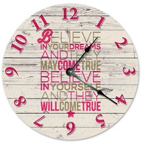 "Large 10.5"" Wall Clock Decorative Round Wall Cl... - $19.59"