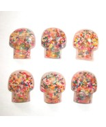 kawaii rainbow sprinkles resin epoxy skull cabo... - $1.97