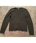 Ann Taylor Women's 100% Extra Fine Merino Wool Gray V-neck Sweater, Size... - $23.99