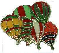 12 Pins - HOT AIR BALLOONS balloon hat lapel pin #4679