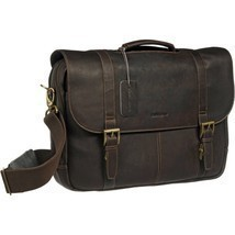 Samsonite Colombian Leather Flap-Over Laptop Messenger Bag - $124.99