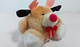"Russ Berrie RUDY Reindeer Plush Puffs Stuffed Animal Mini 4"" Toy Korea  - $25.00"