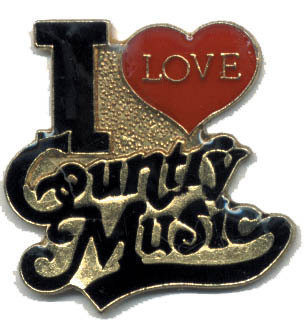 12 Pins - I LOVE COUNTRY MUSIC , hat lapel pin #1811