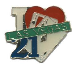 12 Pins - I LOVE LAS VEGAS 21 aj playing cards pin 4578 - $8.00