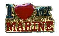 12 Pins - I LOVE MY MARINE usmc marines lapel pin #4114