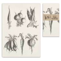 Root Vegetables Tea Towel, Pillow Base - Set of 4 - $31.99