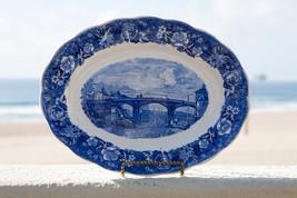 Windsor Bridge porcelain plate.  Thames River Scenes by Palissy Pottery ... - $51.16