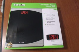 "TAYLOR TEMPERED GLASS DIGITAL SCALE/ 1.3"" RED L... - $9.89"