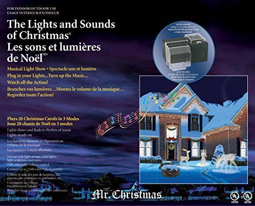 mr christmas lights and sounds holiday musical light show outdoor decorations lights. Black Bedroom Furniture Sets. Home Design Ideas