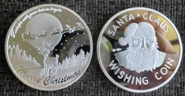 Christmas Santa Claus Wishing Coin 2014 Silver Clad Coin - $4.90