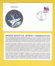 STS-67 ENDEAVOUR EDWARDS AIR FORCE BASE FL MAR 18 1995 WITH INSERT CARD ... - $1.78