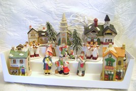 12 Piece  Dickens Style Village Illuminated House and Figurines - $15.00