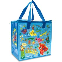 Hawaii Insulated Foldable Shopping Tote Bag Pacific Paradise Blue One Size - $15.79