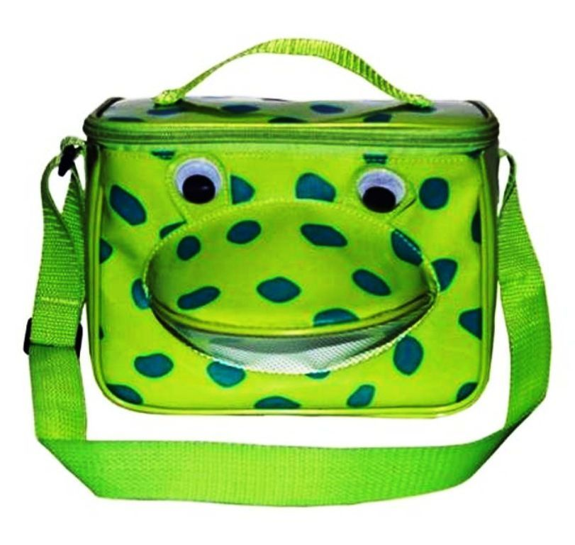 FROG Lunch Box Back to School Snack Bag by Sassafras Insulated Easy Clean FUN