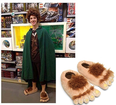 Men Women Hairy Hobbit Feet Big Funny Poop Emoji Home Slippers Christmas... - $17.00