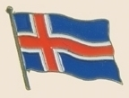 12 Pins - ICELAND , flag hat lapel badge pin sp223