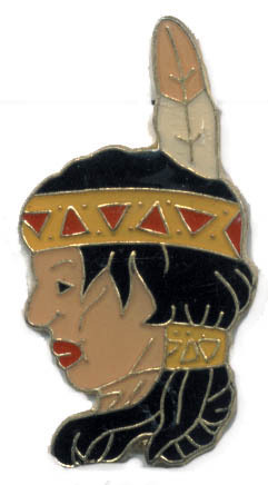 12 Pins - INDIAN GIRL , native american lapel pin #1422