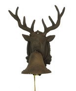 Large CAST IRON Deer Head Bell for Indoor or Outdoor Cabin Decor - $49.26 CAD