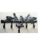 CAST IRON Multi Bird Wall Hook Hanger with 5 Hooks - $18.80
