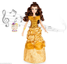 Disney Princess Belle Deluxe Interactive Doll with Singing Mrs. Potts Fi... - $129.95