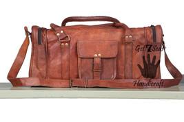Leather luggage bag weekender travel overnight luggage women shoulder ca... - $108.89