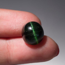 11.0 Ct! Green to very Green perfect CATS EYE effect TOURMALINE! tranluc... - $150.00