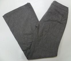 Adrienne Vittadini Gray Wool Trouser Womens Pants Size 2 Wide Leg Stretch - $19.98