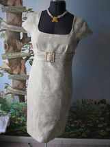 Tahari Arthur Levine Gold Cocktail Dress Size 8 NWT $158 - $89.09