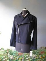 Ralph Lauren Career Women Navy Zipper Suit Blazer / Jacket Size 10 NWT MSRP $250 - $117.81