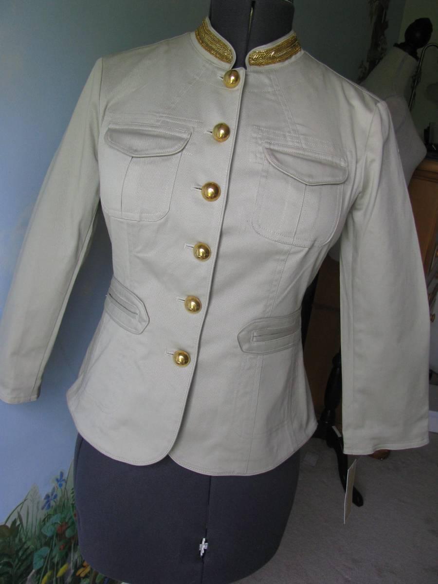 MICHAEL Michael Kors Putty, Military Blazer Jacket SZ 8 NWT MSRP $184