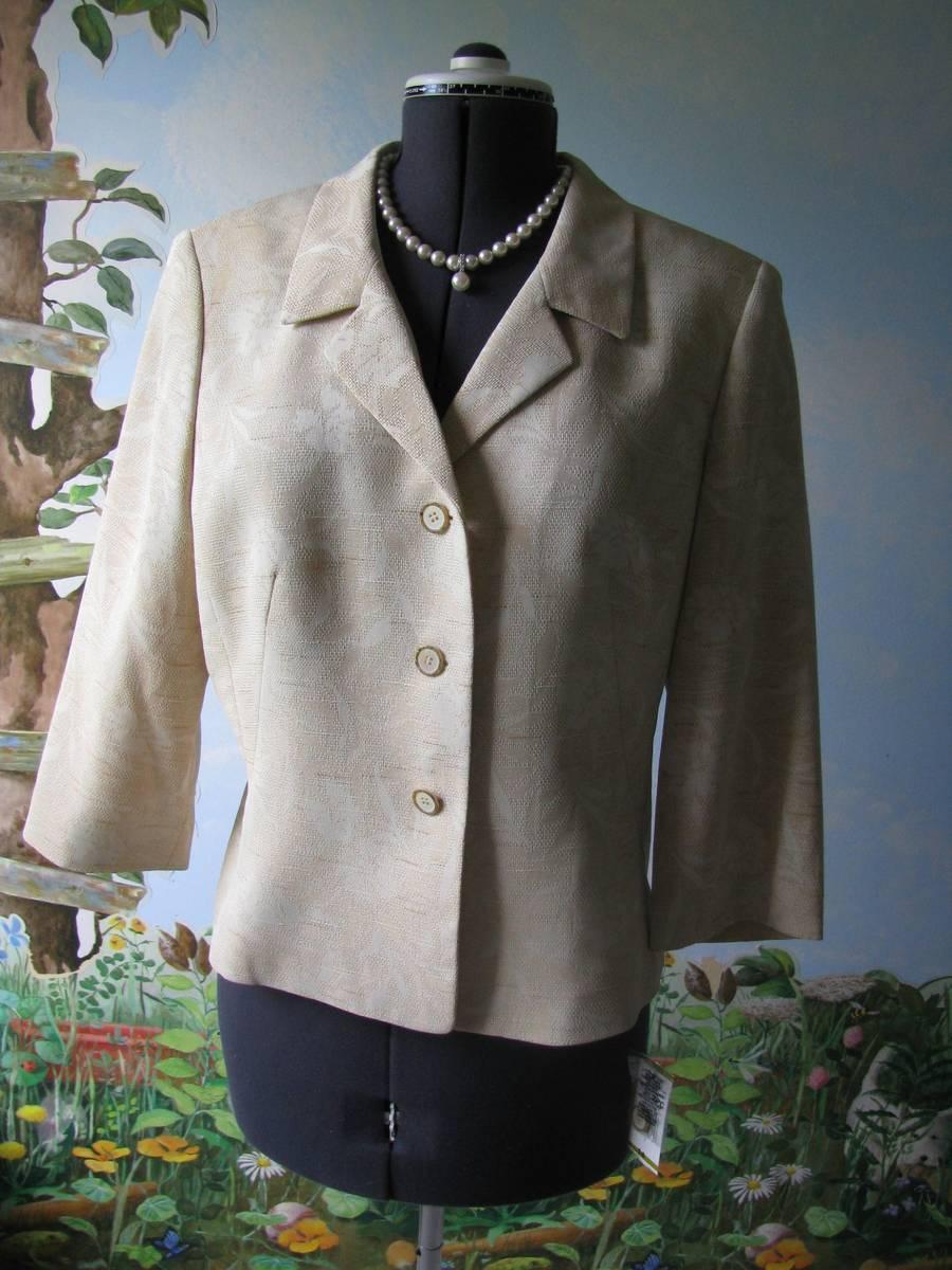 Collections For Le Suit Champagn Floral Evenings Women Jacket Suit Blazer SZ 14 - $49.49