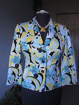 Tahar Women's Multi-color Floral Blazer Suit Jacket Sz Sp - $35.64