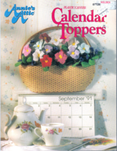PLASTIC CANVAS CALENDAR TOPPERS ANNIES ATTIC OWL CAR BEAR + 1991 PATTERN... - $8.98