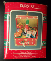 Enesco Christmas Ornament 1990 Tons Of Toys First in Toy Chest Treasures... - $7.99