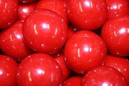 Gumballs Red 25mm Or 1 Inch (57 Count), 1LB - $10.88