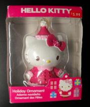 Sanrio Co Ltd Christmas Ornament 2013 Hello Kitty Pretty In Pink Original Box - $7.99