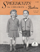 BEEHIVE SPEEDKNITS FOR CHILDREN #71 VINTAGE 2 TO 12 YEARS PATONS & BALDW... - $9.98