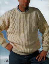 KNIT MENS SWEATERS PATONS 637 HIS FAVOURITE KNITS - CLASSICS FOR EVERY MAN - $4.98