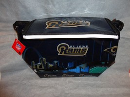 ST LOUIS RAMS TEAM LOGO COOLER BAG FOLDS ICE CHEST 12-12OZ CAN CAPACITY - $9.84
