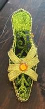 Funky Glitter Stiletto Women Shoes Gem Stone Lime Green Christmas Tree O... - $7.69