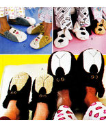 SLIPPERS 4 KIDS & ADULTS CAT, BEARS & DOG OOP MCCALL'S 3471 PATTERN MINT... - $13.98