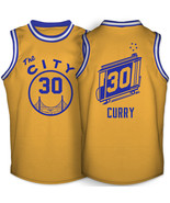 Golden state warriors stephen curry the city 1966 1971 gold jersey thumbtall