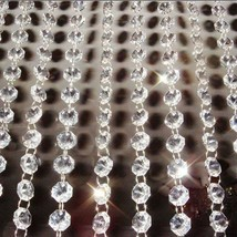 12m 14mm Acrylic Crystal Glass Beads Curtain Garland Strand Chandelier Hanging - $15.09
