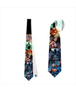 necktie Justice JLA Superman Wonderwoman Batman Green lantern Cyborg Flash tie